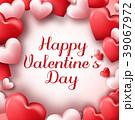 バレンタイン ハート ハートマークのイラスト 39067972