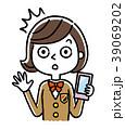 人物 女性 スマートフォンのイラスト 39069202