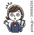 人物 女性 スマートフォンのイラスト 39069204
