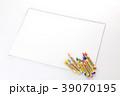 クレヨン 画用紙 文房具の写真 39070195