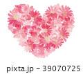 ハート 花 フレームのイラスト 39070725