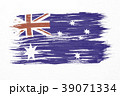 Art brush watercolor painting of Australian flag 39071334