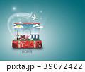 航空機 飛行機 鞄のイラスト 39072422