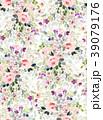 花 背景 柄のイラスト 39079176