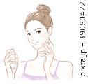 スキンケア 女性 化粧水のイラスト 39080422