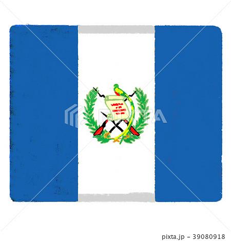 国旗 手描き グアテマラ共和国のイラスト素材 [39080918] - PIXTA
