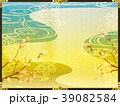 桜 背景 金のイラスト 39082584