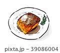 サバの味噌煮 料理 煮魚のイラスト 39086004