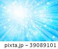青い放射状キラキラした背景 39089101