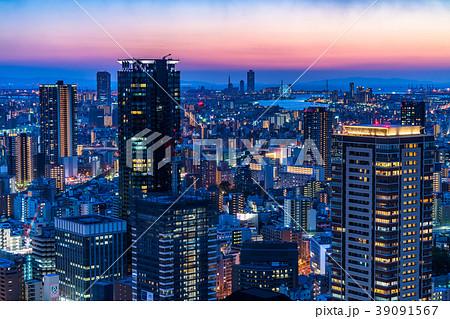 《大阪府》梅田周辺のトワイライト夜景 39091567