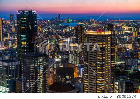 《大阪府》梅田周辺のトワイライト夜景 39091574
