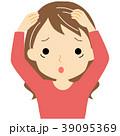 白髪に悩む女性 39095369