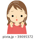白髪に悩む女性 39095372