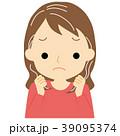 白髪に悩む女性 39095374