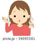 抜け毛に悩む女性 39095381
