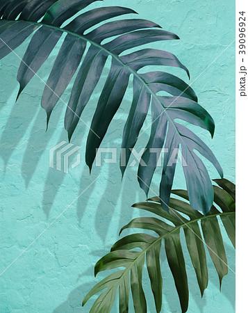 背景-植物-ブルー 39096924