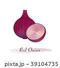 赤い タマネギ 玉ねぎのイラスト 39104735