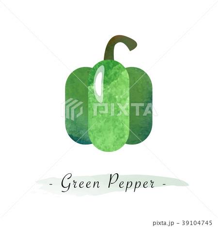Colorful watercolor vector healthy vegetable 39104745