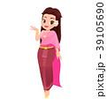Thai women in thai traditional dress 39105690
