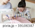 裁縫 親子 ミシンの写真 39106387