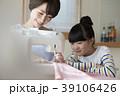裁縫 親子 ミシンの写真 39106426