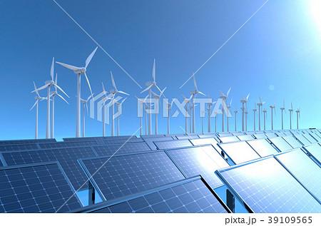 ソーラーパネルと風量発電 39109565