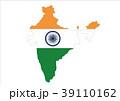 インド 地図 イラスト 39110162