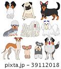 小型犬の素材 手描き 39112018