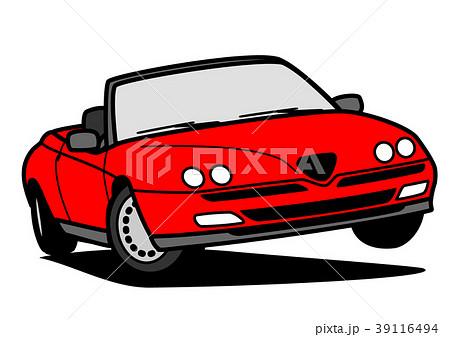 イタリアンオープンカー 赤色 自動車イラスト 39116494