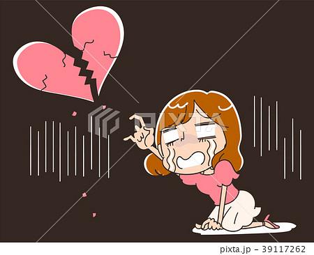 失恋した女性のイラスト 39117262