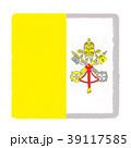 国旗 手描き バチカン市国 39117585