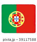 国旗 手描き ポルトガル 39117588