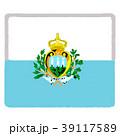 国旗 手描き サンマリノ 39117589
