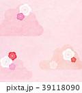 背景-和紙-雲-梅 39118090