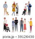 色々な世代の人々 イラスト セット 39126430