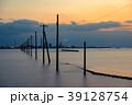 江川海岸 電柱 夕景の写真 39128754