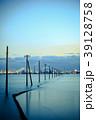 江川海岸 電柱 夕景の写真 39128758