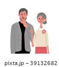 シニアの夫婦 アイコン セット 39132682
