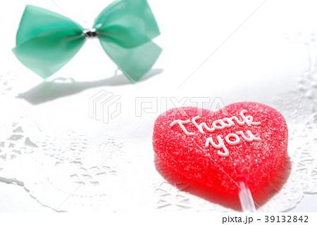 Thank you ハート型ゼリー 39132842