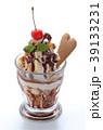 デザート スイーツ アイス ミント 白 チョコレート さくらんぼ 洋菓子   39133231