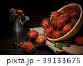 紅毛丹 熱帶 水果 Rambutan Fruit Bamboo Basket ランブータン 竹かご 39133675