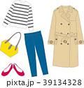 コーディネート 春 ファッションのイラスト 39134328