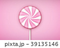 Pink Lolipop candy on pastel pink background. 39135146