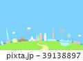 東京の都市風景のカラフルなイラスト/建物・タワー・ビル イラスト 39138897