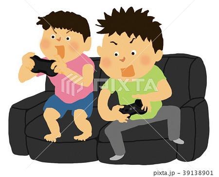 テレビゲームは控え目にのイラスト素材 39138901 Pixta