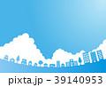 ベクター 入道雲 町のイラスト 39140953