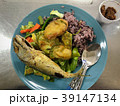 Lunch time of rices and vegetables set, image 39147134
