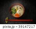 お雑煮 miso soup with rice cakes and vegetables 39147217