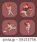 スポーツ 選手 ベースボールのイラスト 39153756