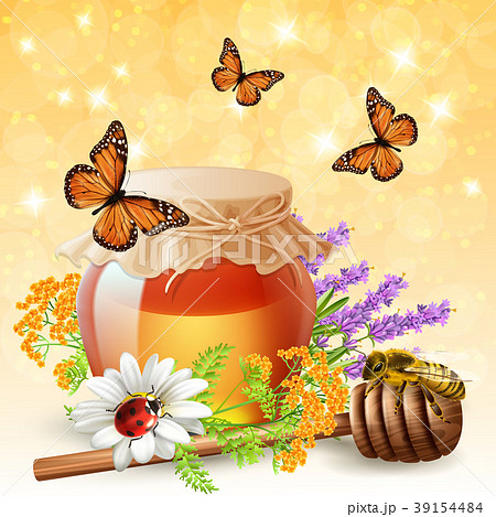 Insects With Honey Realistic  39154484